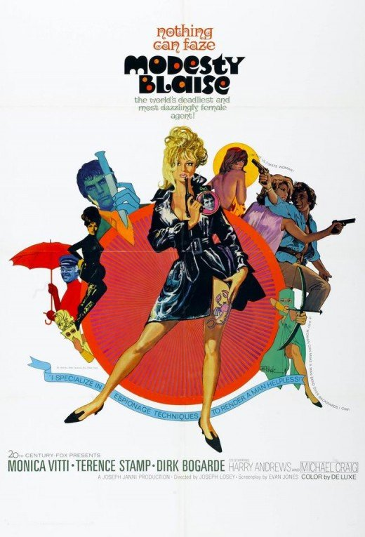 Modesty Blaise (1966) poster art by Bob Peak