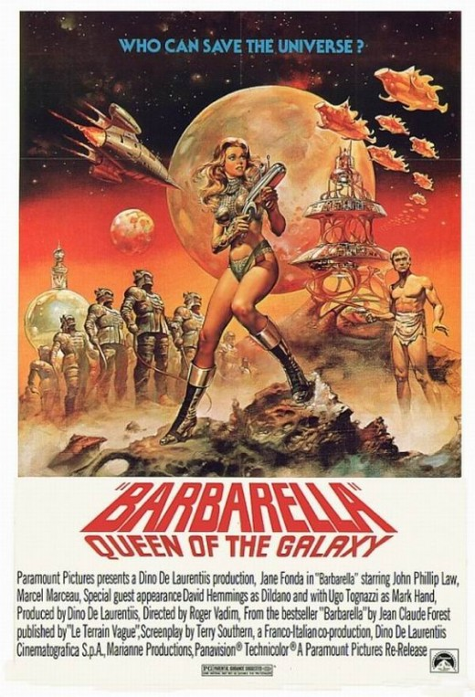 Barbarella (1968) poster art by Boris Vallejo
