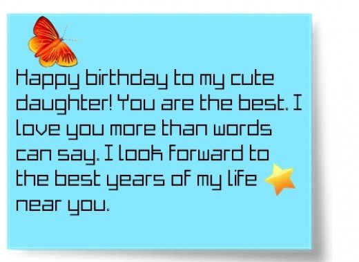 happy birthday quotes for daughter from mom  holidappy, Birthday card