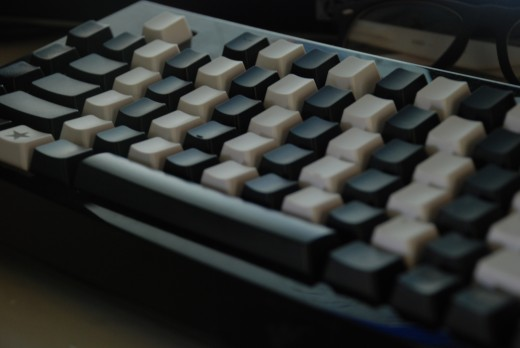 This was my first mechanical keyboard. It was a Razer Blackwidow Ultimate with custom key caps. I've since made the switch into a Filco Majestouch 2 and have also recently been gifted a Pok3r keyboard.