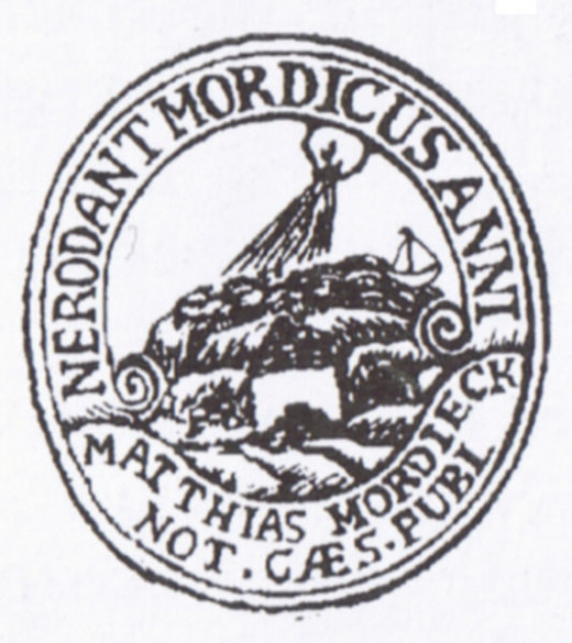 """Affixing a seal"" has been used to verify identities since ancient times. This particular notary public seal dates to 1756."