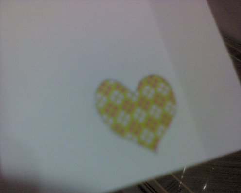 See the heart shape with the gift wrapper, Pretty isn't it?