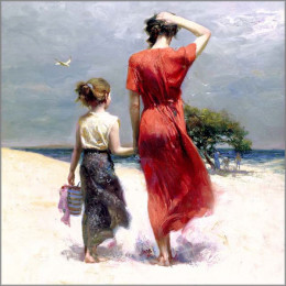 Afternoon Stroll by Pino Daeni