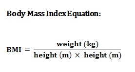 Body Mass Index Equation