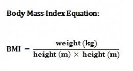 Body Mass Index Equation