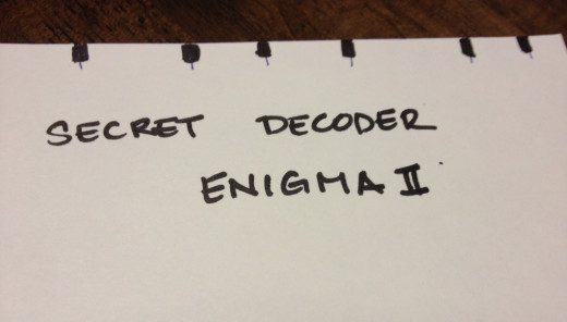After marking your decoder, write the letters that will match up to the marks first.
