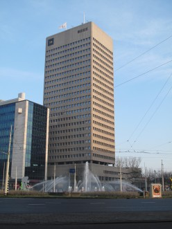 Rotterdam, the Shell office building and the Hofplein