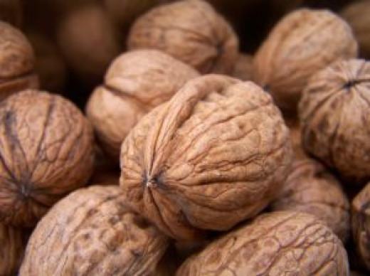 A bundle of walnuts