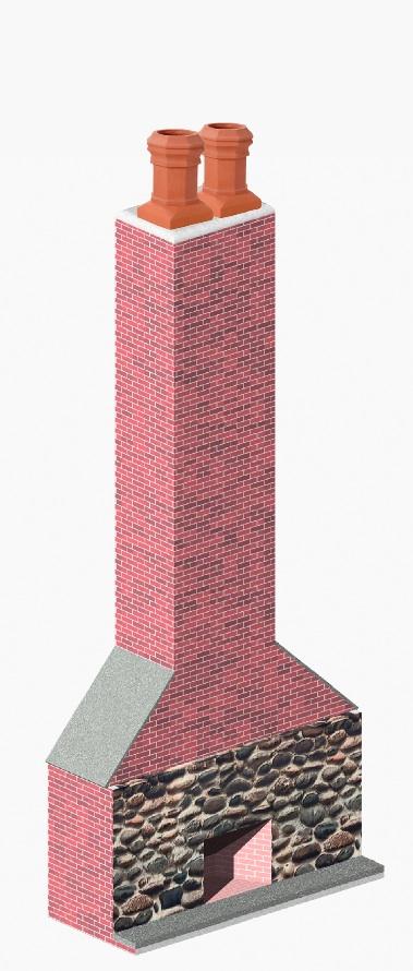 Diagram of Clay Chimney