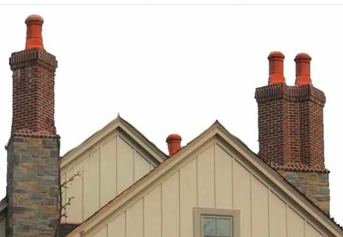 Clay Chimney on New Construction