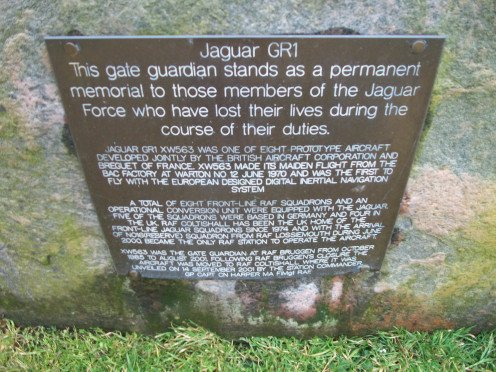 Commemorative plaque, Jaguar display, Norfolk County Hall, Norwich, Norfolk