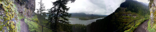 Another scenic view of the Columbia River Gorge.