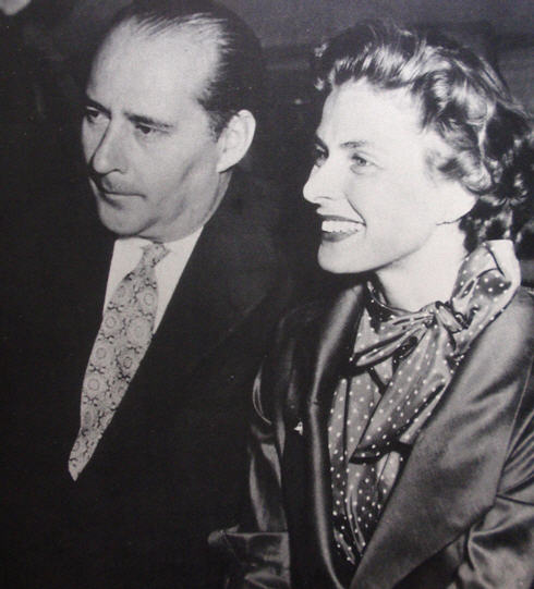 "Roberto Rossellini pictured with Ingrid Bergman. Between 1945 and 1948 Rossellini directed ""Rome: Open City,"" ""Paisan"" and ""Germany Year Zero,"" which became popularly know as his Neorealist Trilogy."