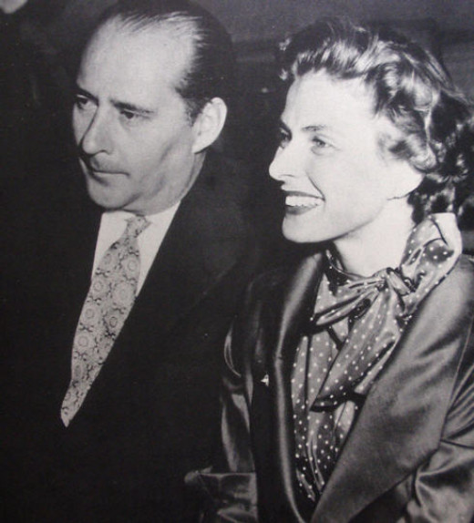 """Roberto Rossellini pictured with Ingrid Bergman. Between 1945 and 1948 Rossellini directed """"Rome: Open City,"""" """"Paisan"""" and """"Germany Year Zero,"""" which became popularly know as his Neorealist Trilogy."""