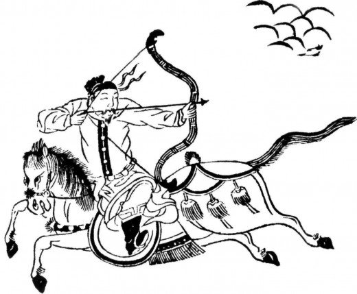 An Asian mounted archer