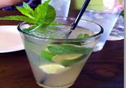 Mint and Fresh Lime Juice with Ginger