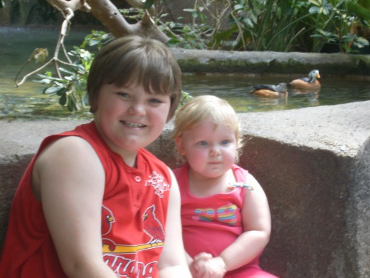 Alex and his sister Cadence at the zoo.