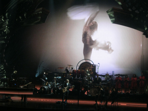 "Some of the amazing special effects, just incredible. This was during the song ""Tiny Dancer."""