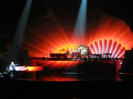 The background special effects create a show and help to tell the stories of the songs as Elton sings them in his iconic style!
