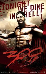 Gerard Butler as King Leonidas in 300.