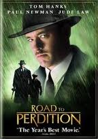 Tom Hanks pictured on the poster for Road To Perdition which was based on a graphic novel of the same name.