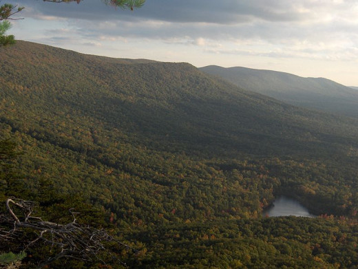 A lake at the base of Mount Cheaha
