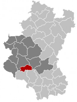 Map location of Herbeumont in the Luxembourg province of Belgium