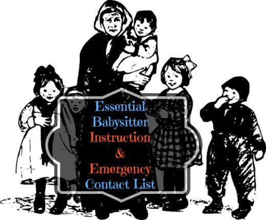 The Essential Babysitter Instruction And Emergency Contact List