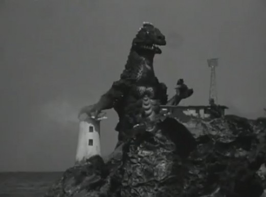 Agon crushes a lighthouse.