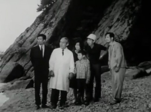 Goro and the others look on as Agon returns to the sea.