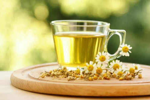 An infusion of camomile is said to help against tension and insomnia.