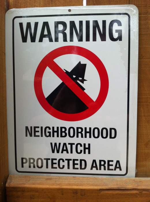 A brand new neighborhood watch sign.