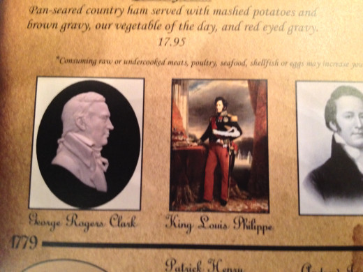 GEORGE ROGERS CLARK and KING LOUIS PHILLIPPE