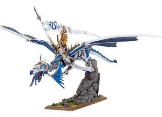 High Elf Lord on Dragon by Games Workshop
