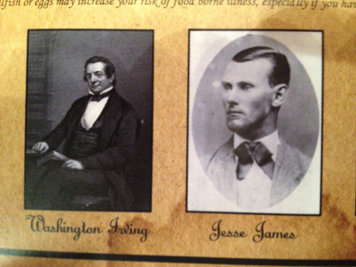 WASHINGTON IRVING and JESSE JAMES