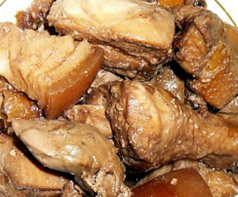 Tasty adobo - pinoy special pork and chicken adobo