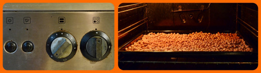 Keep mixing your peanuts regularly while in the oven