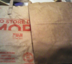 Reduce, Reuse, Recycle Paper Grocery Bags