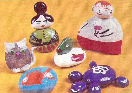Some Pebble Paperweights