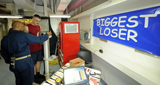 A motivational weight loss program aboard a US Navy ship.