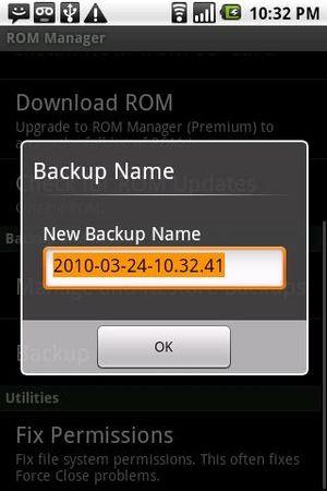 Rom manager screenshot