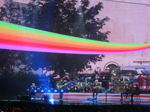 One of my favorite pictures that I took during the show. I love this floating rainbow effect!