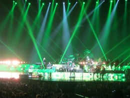 You can tell from all the GREEN lights used that this can only be one song... Crocodile Rock! Elton got the audience rocking with this tune!