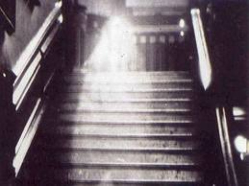 This ghastly image is one of the first photographed ghost images that at least seems authentic to a degree.