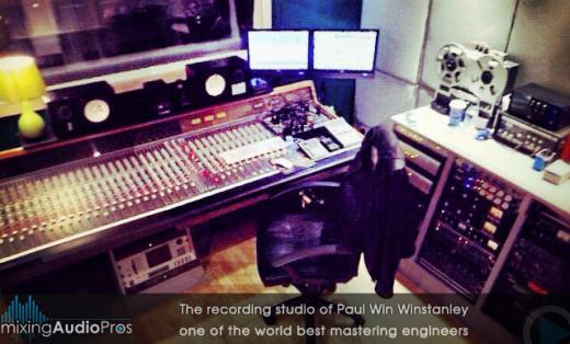 Recording studio of Paul Winstanley