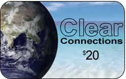 Clear Connections phone card is available in $20 denominations.