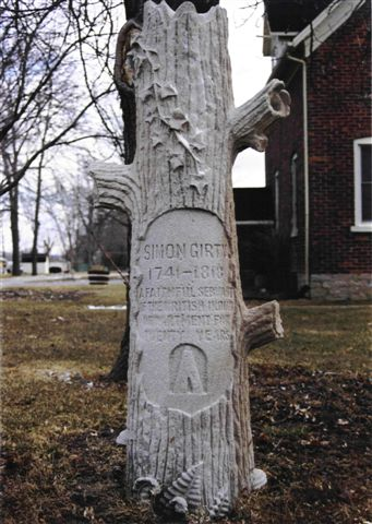 Monument to Girty in Canada