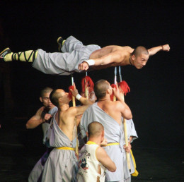 Shaolin Monks demonstrating their inner strength and discipline.