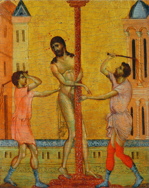 Members of the group experience the flagellation of Christ.