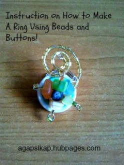 Instructions for Making Your Own Ring Using Beads and Buttons